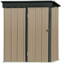 5′ x 3′ Outdoor Metal Storage Shed, Steel Utility Tool Storage House with Door