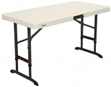 Lifetime 80387 4-Foot Commercial Adjustable Folding Table