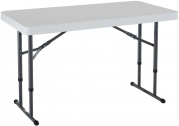 Lifetime 80160 Commercial Height Adjustable Folding Utility Table, 4 Feet