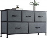WLIVE Dresser with 5 Drawers, Dressers for Bedroom, Fabric Storage Tower