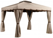 Sojag 10′ x 10′ Roma Soft Top Roof Gazebo Outdoor Sun Shelter, Beige